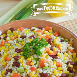 Recipe Image for Barley, Bean and Corn Salad