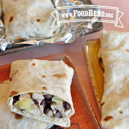 Recipe Image for Chicken and Black Bean Salsa Burritos