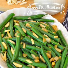 Recipe Image for Green Beans with Onions and Almonds