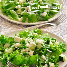 Recipe Image for Green Salad with Peas