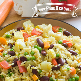 Recipe Image for Indian Vegetable and Rice Skillet Meal