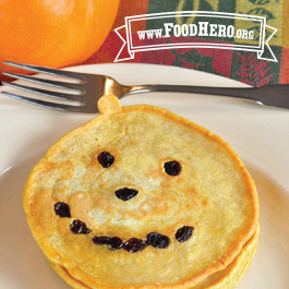 Recipe Image for Jack-O-Lanterns (Pumpkin Pancakes)