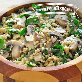 Recipe Image for Mushroom Bulgur Pilaf