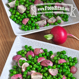 Recipe Image for Oven-Roasted Radishes with Peas