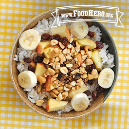 Recipe Image for Rice Bowl Breakfast with Fruit and Nuts