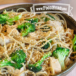Recipe Image for Sesame Noodles with Broccoli and Chicken