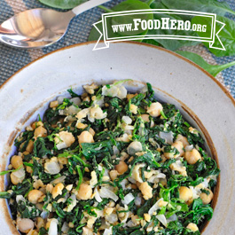 Recipe Image for Spinach with Garbanzo Beans