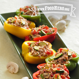 Recipe Image for Stuffed Peppers with Turkey & Vegetables