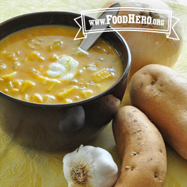 Recipe Image for Sweet Potato Pumpkin Soup