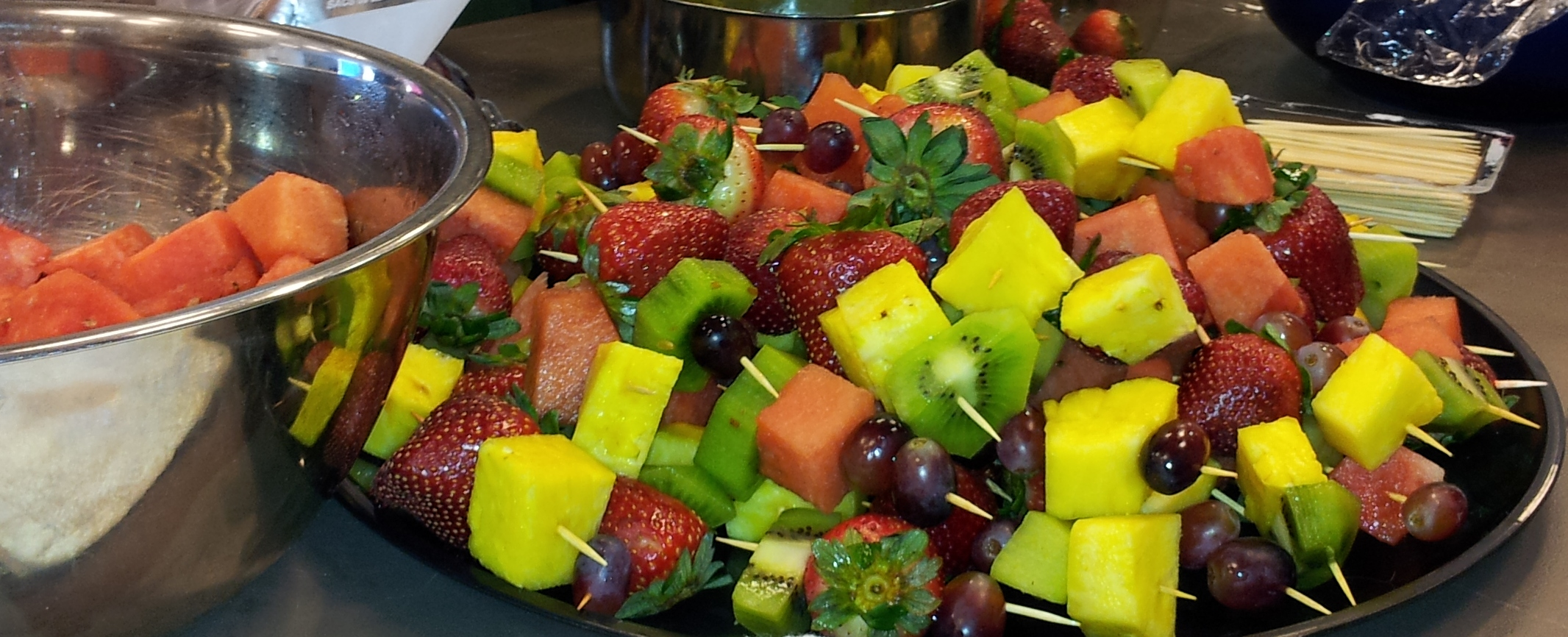 Fruit Kabobs are fun snacks for kids and adults!